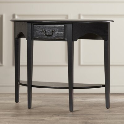 Apple Valley Demilune Console Table Finish: Slate