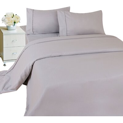 Furnace Microfiber Sheet Set Color: Silver, Size: Twin XL