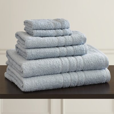 Ridgway 6 Piece Towel Set Color: Ice Blue