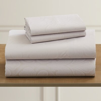 Fitzlewis 300 Thread Count Microfiber Sheet Set Size: Full, Color: Vanilla
