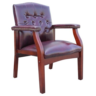 Berry Hill Leather Armchair Upholstery: Oxblood