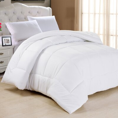 Frankton Down Alternative Ultra Plush Comforter Size: King, Color: White