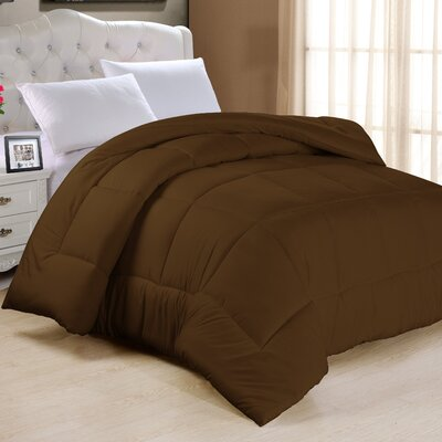 Frankton Down Alternative Ultra Plush Comforter Size: King, Color: Chocolate