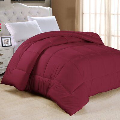 Frankton Down Alternative Ultra Plush Comforter Size: King, Color: Burgundy