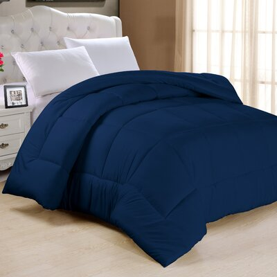 Frankton Down Alternative Ultra Plush Comforter Size: Full, Color: Navy