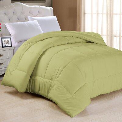 Frankton Down Alternative Ultra Plush Comforter Size: King, Color: Sage