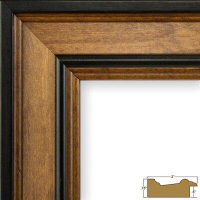 2 Wide Wood Grain Picture Frame