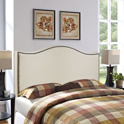 Bransford Curl Upholstered Headboard Size: Queen, Upholstery: Ivory