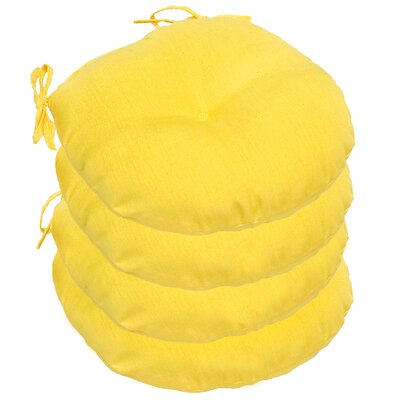 Outdoor Round Bistro Dining Chair Cushion Fabric: Sunbeam Yellow