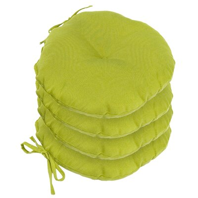 Outdoor Round Bistro Dining Chair Cushion Fabric: Kiwi Green