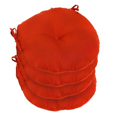 Outdoor Round Bistro Dining Chair Cushion Fabric: Salsa Red