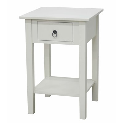 Crawfordsville End Table Finish: White