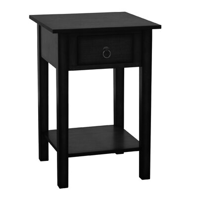 Crawfordsville End Table Finish: Black