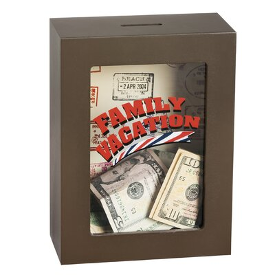 Family Vacation Wooden Shadow Bank
