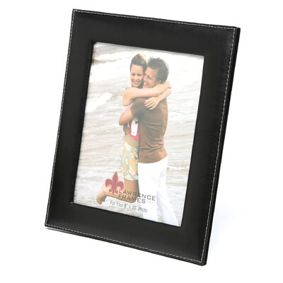 Bonded Leather Picture Frame Size: 8 x 10, Color: Black