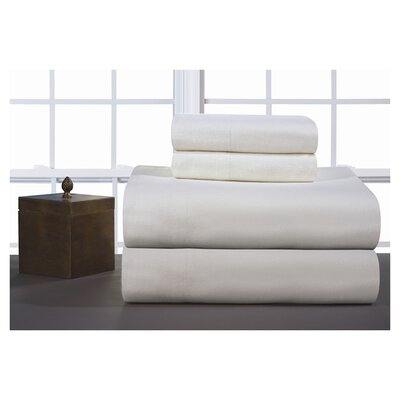 Medaryville Heavy Weight Flannel Solid Sheet Set Size: California King, Color: Ivory