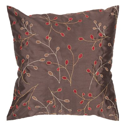Shelby Throw Pillow Size: 22 x 22, Color: Chocolate, Fill: Down