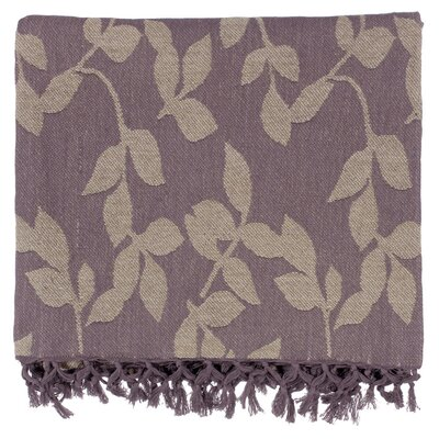 Bremen 100% Cotton Throw Blanket Color: Plum / Tan