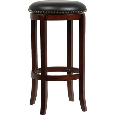 Henryville 29 Swivel Bar Stool Finish: Cherry
