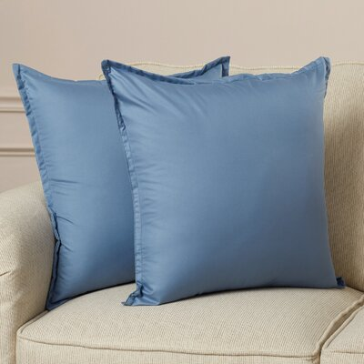 Blairview Water and Stain Resistant Throw Pillow Color: Smoke Blue