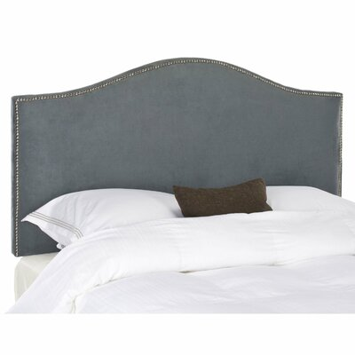 Rumford Upholstered Panel Headboard Upholstery: Gray, Size: Full