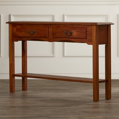 Annesley Petite Console Table Finish: Chestnut