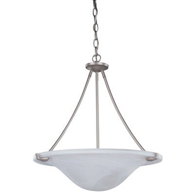 Clarksville 3-Light Inverted Pendant Finish: Platinum