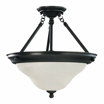 Darmstadt 3-Light Semi-Flush Mount Finish: Heirloom Bronze