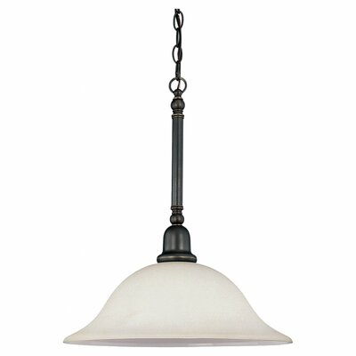Darmstadt 3-Light Glass Shade Bowl Pendant Finish: Heirloom Bronze