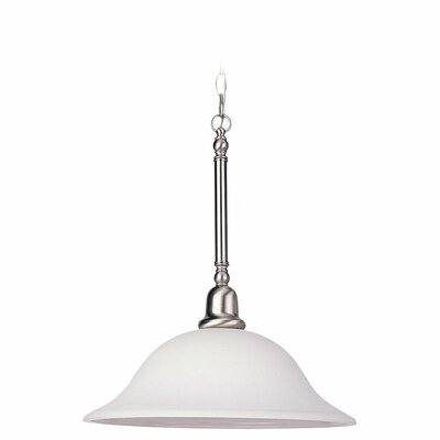 Darmstadt 3-Light Glass Shade Bowl Pendant Finish: Brushed Nickel
