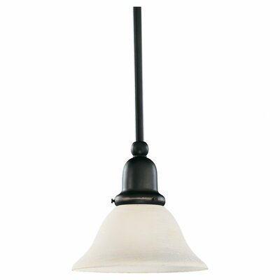 Darmstadt 1-Light Glass Shade Mini Pendant Finish: Heirloom Bronze