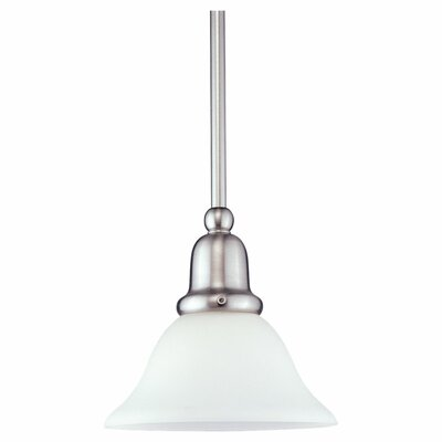 Darmstadt 1-Light Glass Shade Mini Pendant Finish: Brushed Nickel