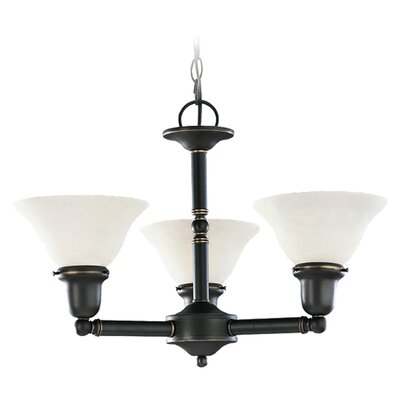 Darmstadt Traditional 3-Light Shaded Chandelier