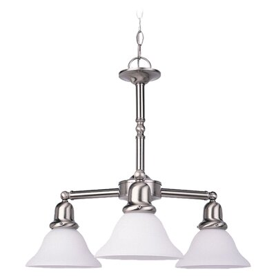 Darmstadt Traditional 3-Light Chain Shaded Chandelier