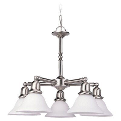 Harrisburg 5-Light Shaded Chandelier Finish: Brushed Nickel