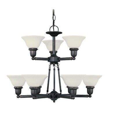 Harrisburg 9-Light Shaded Chandelier