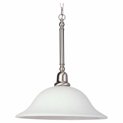 Darmstadt Traditional 1-Light Mini Pendant Finish: Brushed Nickel