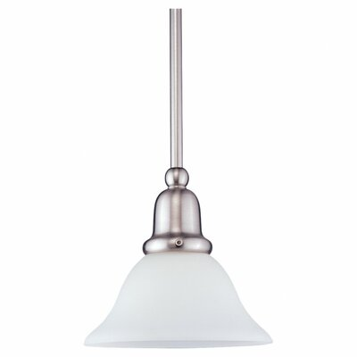Darmstadt Traditional 1-Light Glass Shade Mini Pendant Finish: Brushed Nickel