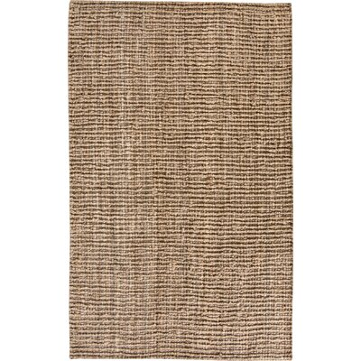 Gaines Hand-Woven Brown Area Rug Rug Size: 3 x 5