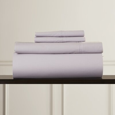 Harristown 350 Thread Count Egyptian 100% Cotton Extra Deep Pocket Sheet Set Size: Cal King, Color: Lavender