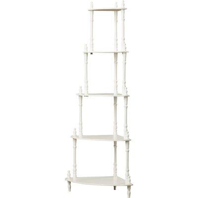 Ogden Corner Unit Bookcase Finish: White