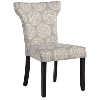 Glennville Side Chair Upholstery: Gray Medallion