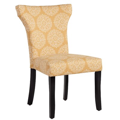 Glennville Side Chair Upholstery: Mustard Medallion