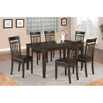 Smyrna 5 Piece Dining Set Finish: Cappuccino