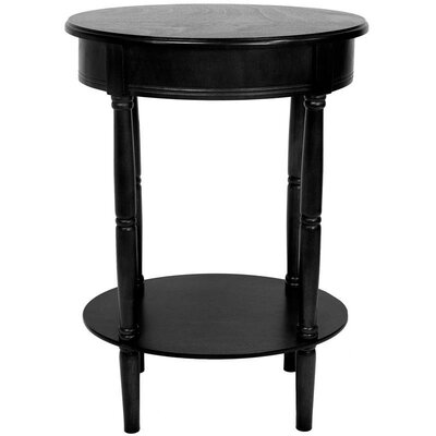 Adelphi Oval End Table Finish: Black