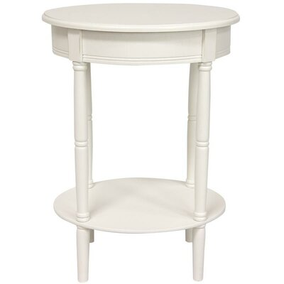 Adelphi Oval End Table Color: White