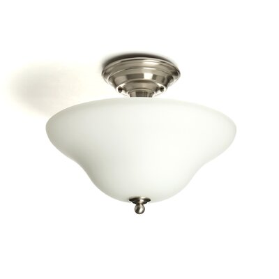 Harrisburg 3-Light Semi-Flush Mount Finish: Brushed Nickel