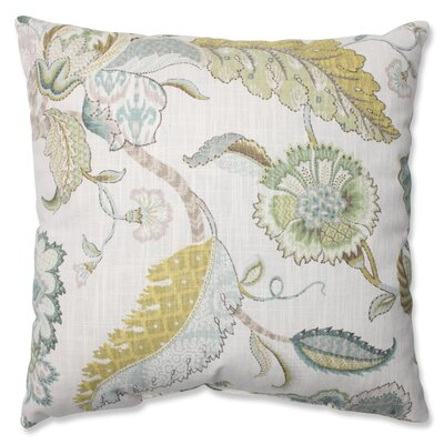 Erie Peacock 100% Cotton Throw Pillow Size: 16.5 H X 16.5 W X 5 D