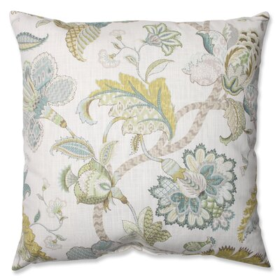 Erie Cotton Peacock Throw Pillow Size: 24.5 H x 24.5 W x 5 D
