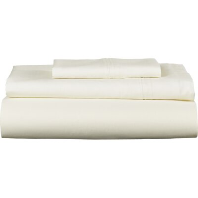 Harristown 350 Thread Count Egyptian 100% Cotton Extra Deep Pocket Sheet Set Size: Twin, Color: Light Ivory